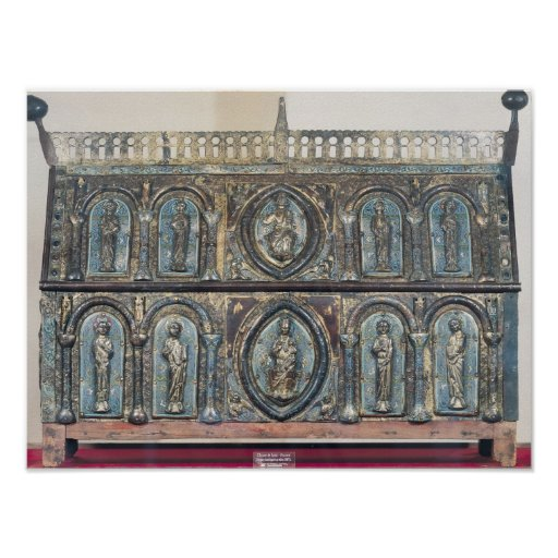 Reliquary chest of St. Viance, Limousin School Poster