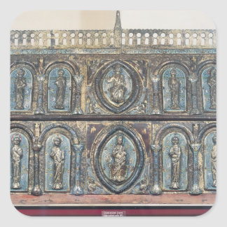 Reliquary chest of St. Viance, Limousin School Square Sticker