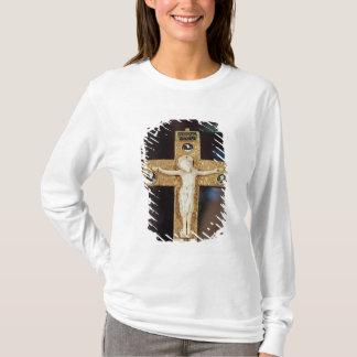 Reliquary crucifix, ivory Christ on gold cross T-Shirt