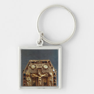 Reliquary of Pepin I  King of Aquitaine Silver-Colored Square Keychain