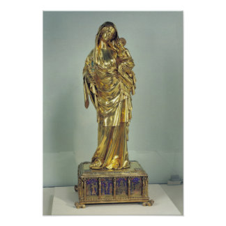 Reliquary of the Virgin of Jeanne d'Evreux Poster