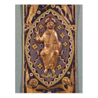 Reliquary plaque depicting Christ Postcard