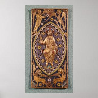 Reliquary plaque depicting Christ Poster