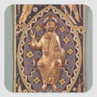Reliquary plaque depicting Christ Square Sticker