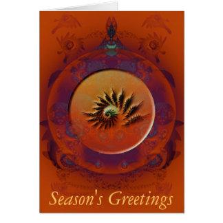Reliquia del fractal de Navidad Tarjeta De Felicitación