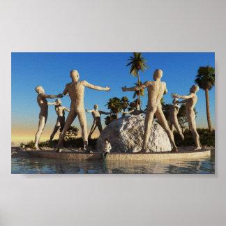 Reliquia en la playa póster