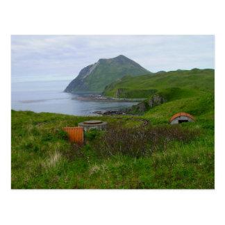 Reliquias de WWII en la bahía del verano, isla de  Postales