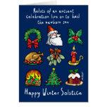 Reliquias del solsticio de invierno - tarjeta de felicitación