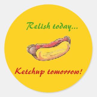 Relish today classic round sticker