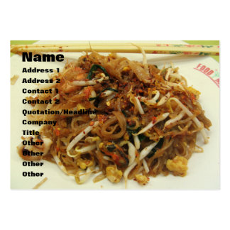 Rellene (ผัดไทย) la comida tailandesa de la calle tarjetas de visita grandes