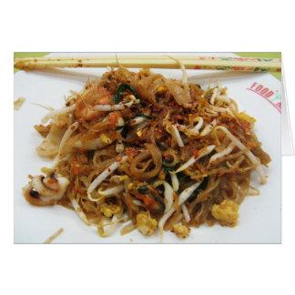 Rellene (ผัดไทย) la comida tailandesa de la calle tarjeta de felicitación