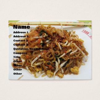Rellene [ผัดไทย] la comida tailandesa de la calle tarjetas de visita grandes