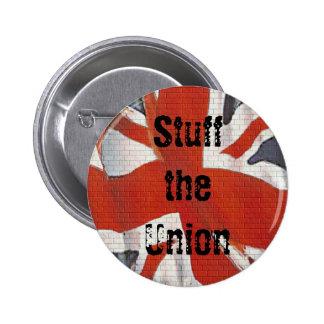 Rellene la insignia escocesa del botón de la indep pin redondo de 2 pulgadas