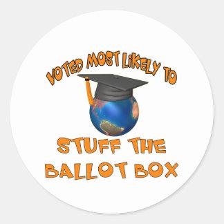 Rellene la urna etiqueta redonda