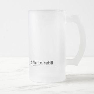 relléneme taza de cristal