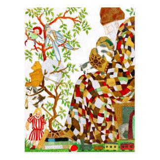 Relleno de medias del navidad postal