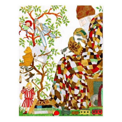 Relleno de medias del navidad tarjetas postales