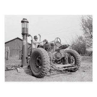 Relleno del tractor 1940 postal