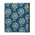relleno el estampado de flores azul del blanco de