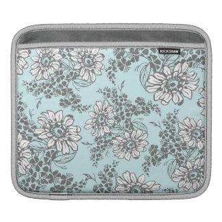 relleno el estampado de flores del gris azul manga de iPad