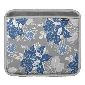 relleno el estampado de flores del gris azul funda para iPads