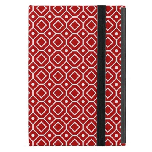 relleno el modelo retro rojo iPad mini fundas