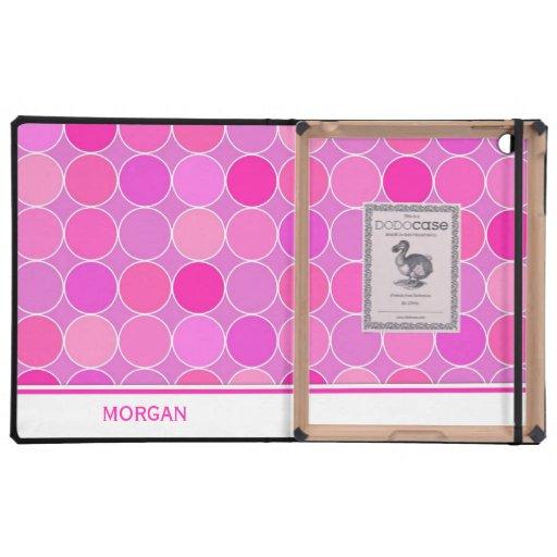 relleno el modelo rosado conocido de encargo de lo iPad carcasas
