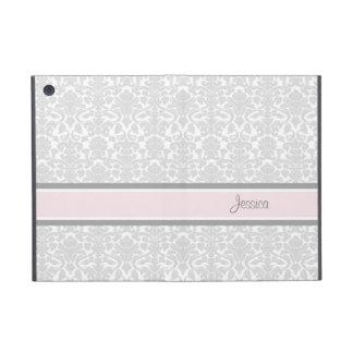 relleno mini nombre rosado del personalizado del d iPad mini cobertura