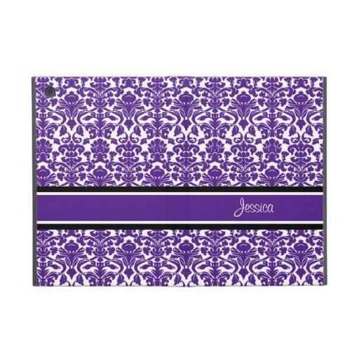 relleno mini nombre violeta del personalizado del  iPad mini protector