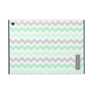 relleno nombre del personalizado de Ombre Chevron  iPad Mini Cárcasas