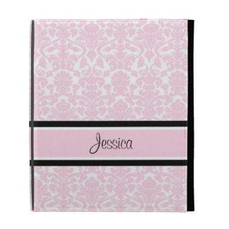 relleno nombre rosado del personalizado del damasc