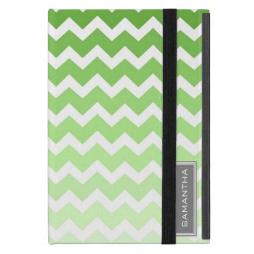 relleno nombre verde del personalizado de Ombre Ch iPad Mini Carcasas