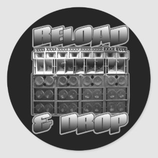 RELOAD and DROP Stickers