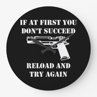 Reload Gun Large Clock