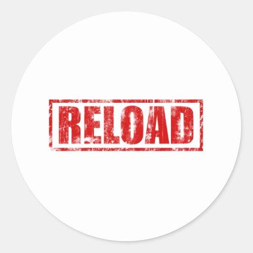 Reload! - Video Game Gamer Gaming Shoot Gun Round Stickers