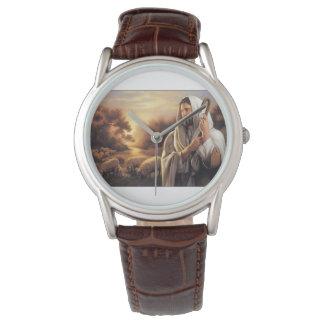 Relógio de pulseira de couro wristwatch