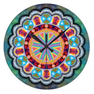 Relógio Mandala Proteção Relógio De Parede