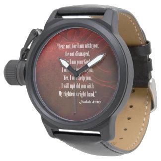 Reloj 10 de Isaías 41 del verso de la biblia