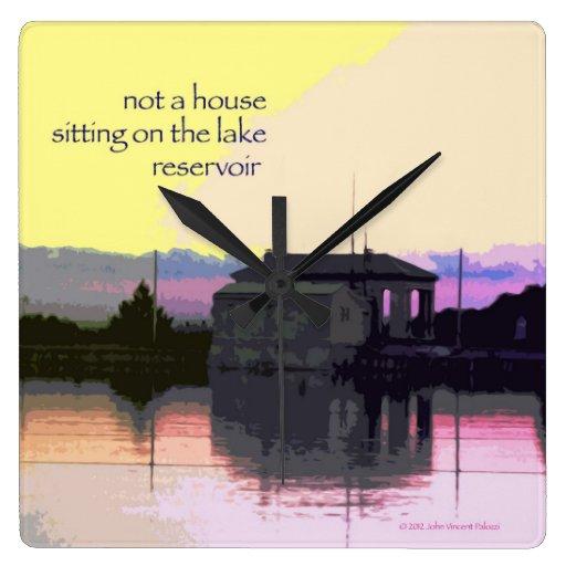 Reloj 12 - arte y Haiku originales - no una casa