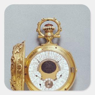 Reloj, 1897-1901 pegatina cuadradas personalizadas