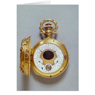 Reloj, 1897-1901 tarjeton