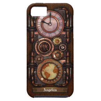 Reloj #1B del vintage de Steampunk iPhone 5 Case-Mate Carcasa