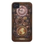 Reloj #1B del vintage de Steampunk iPhone 4 Case-Mate Carcasas