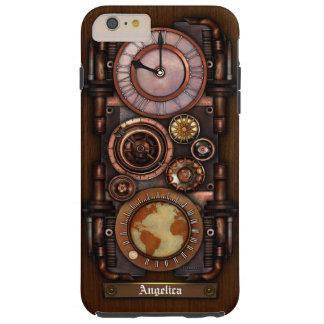 Reloj #1B del vintage de Steampunk Funda De iPhone 6 Shell