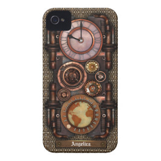 Reloj #1C del vintage de Steampunk iPhone 4 Case-Mate Coberturas