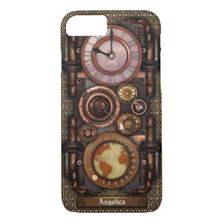 Reloj #1C del vintage de Steampunk Funda iPhone 7