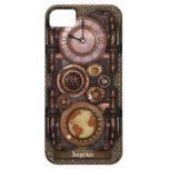 Reloj #1C del vintage de Steampunk iPhone 5 Funda
