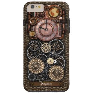 Reloj 2 Redux de Steampunk del vintage Funda De iPhone 6 Shell