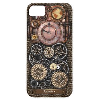 Reloj #2 Redux de Steampunk del vintage iPhone 5 Funda