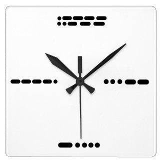 Reloj 3 6 9 12 del código Morse